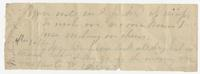 Fragment of a torn letter
