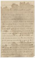 Letter addressed to R.A. Young, esq., from F. Eppes