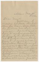 Letter addressed to Mart