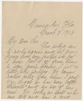 """Letter addressed to """"My dear Sue"""" from Sarah E. Gardner"""