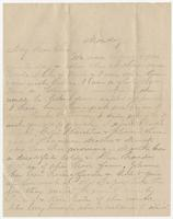 """Letter addressed to """"My Dear Sue"""" from M. M. W."""