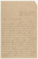 """Letter addressed to """"My darling Mama"""" from Susan's daughter Martha"""