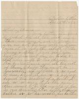 """Letter addressed to """"Darling Mama"""" from Susan's daughter Martha"""