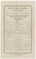 John B. Stetson University Concert Programme