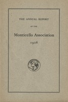 Annual Report of the Monticello Association 1926