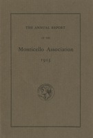 Annual Report of the Monticello Association 1925