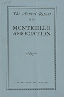 Annual Report of the Monticello Association