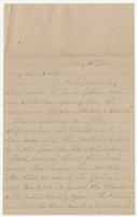 """Letter addressed to """"My dear Sister"""" from """"Your devoted Brother"""" W.M. Branch"""