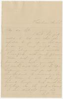 """Letter addressed to """"My dear Sister"""""""