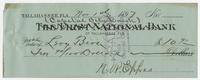 Check for $10.90 addressed to Levy Bros, signed by N. W. Eppes