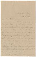 """Letter addressed to """"My dear Sister"""" from E.A. Mason"""