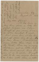 """Letter addressed to """"My dear friend"""" from Betsy Mason"""