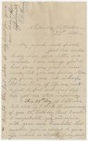 """Letter addressed to """"My much loved friend"""" from E.A. Mason"""