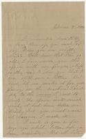 Letter addressed to Mrs. M.L.H. Bradford from her friend E.A. Mason