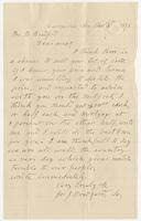 "Letter addressed to Martha Bradford, ""Dear aunt"""