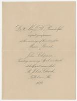 Invitation to the wedding of Maria Beard and John Chipman