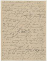 Draft for manuscript or biography mainly written on the letterhead paper of Edward Bradford Eppes