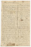 """Letter addressed to """"My Dear Cousin"""" signed by T.H.B. Campbell"""