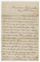 Letter written to Hennie from T.H.B.C.