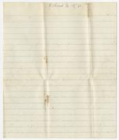 Unaddressed letter written by Thomas