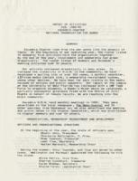 Report of Activities, Feb. 1989-90