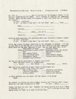 Membership Survey, January 1990