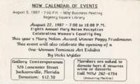 NOW Calendar of Events