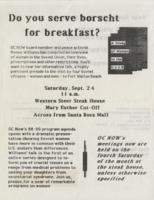 Do you serve borschy for breakfast?