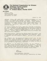 Letter from Rhea Hendrixson, President of OCNOW, to Heide Anken, President of Tallahassee NOW