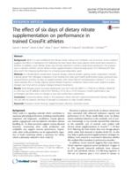 The effect of six days of dietary nitrate supplementation on performance in trained CrossFit athletes