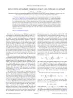 Spin correlations and topological entanglement entropy in a non-Abelian spin-one spin liquid