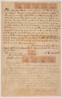 Receipt for parcel of land in Leon County, Florida