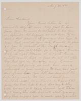 Letter from Papa to Richard, August 30, 1888