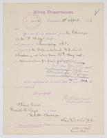 Order from the Navy Department detaching R. H. Leigh from the U.S.S. Chicago