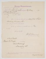 Order from the Navy Department detaching R. H. Leigh from duty at the Naval Academy, Annapolis, Md.