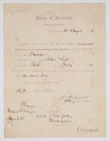 Order from the Bureau of Navigation appointing R. H. Leigh an Ensign of the Navy