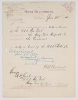 Order from the Navy Department detaching R. H. Leigh from duty on board of the U.S.S. New York
