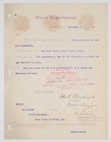 Order from the Navy Department detaching R. H. Leigh from duty on board of the U.S.S. Raleigh