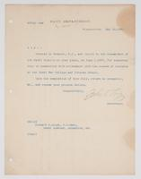 Order from the Navy Department for Richard H. Leigh to report to the Commandant of the Naval Station in Newport, R.I.