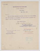 Order from the United States Naval Force on Asiatic Station for R. H. Leigh to detach from duty on board the U.S.S. Oregon