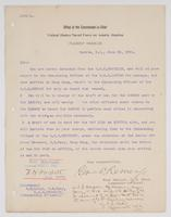 Order from the United States Naval Force on the Asiatic Station detaching R.H. Leigh from the U.S.S. Brooklyn, reporting him to the U.S.S. Zafiro