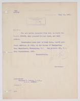 Order from the Navy Department detaching Richard H. Leigh from duty on board the U.S.S. Oregon