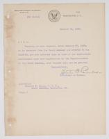 Order from the Bureau of Navigation denying Richard H. Leigh's request to detach from the Naval Academy