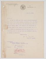 Order from the Bureau of Navigation detaching Richard H. Leigh from duty at the Naval Academy, Annapolis, Md.