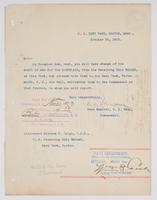 Order from the Rear Admiral for Richard H. Leigh to take charge of the Cleveland