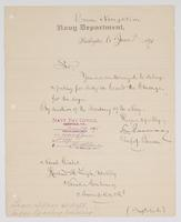 Authorization from the Navy Department for R. H. Leigh to delay reporting to the U.S.S. Chicago for ten days