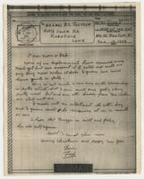 Letter to Mom & Dad from Pvt. Frederick C. Jackson