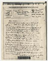 Letter to Mom from Pvt. Frederick C. Jackson