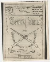 Merry Xmas Letter to Mom & Dad from Pvt. Frederick C. Jackson