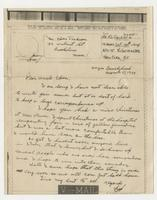 Letter to Uncle Eben from Pvt. Frederick C. Jackson